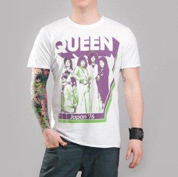 koszulka QUEEN - JAPAN '76 biała