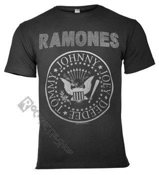 koszulka RAMONES - LOGO CHARCOAL, cykorie