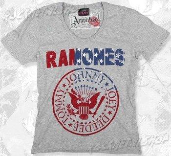 koszulka RAMONES - USA szary melanż
