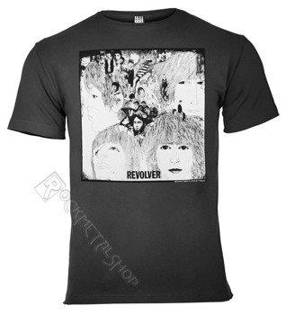 koszulka THE BEATLES - REVOLVER ciemnoszara