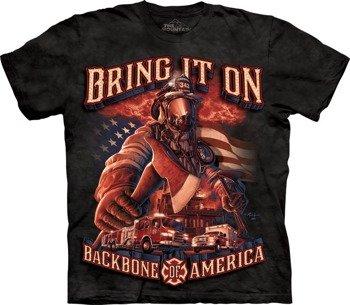 koszulka THE MOUNTAIN - BACKBONE AMERICA, barwiona