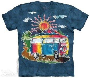 koszulka THE MOUNTAIN - BATIK TOUR BUS, barwiona