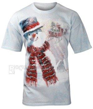 koszulka THE MOUNTAIN - HAPPY SNOWMAN, barwiona