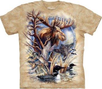 koszulka THE MOUNTAIN - NEVER A LOON, barwiona