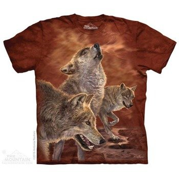 koszulka THE MOUNTAIN - RED GLOW WOLVES, barwiona