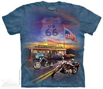 koszulka THE MOUNTAIN - ROUTE 66, barwiona