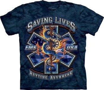 koszulka THE MOUNTAIN - SAVING LIVES EMS, barwiona
