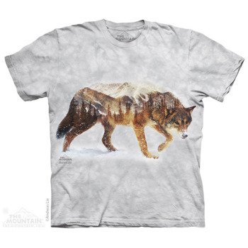 koszulka THE MOUNTAIN - SNOW WOLF, barwiona