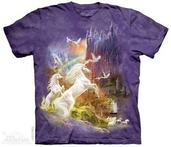 koszulka THE MOUNTAIN - SUNSET UNICORNS, barwiona
