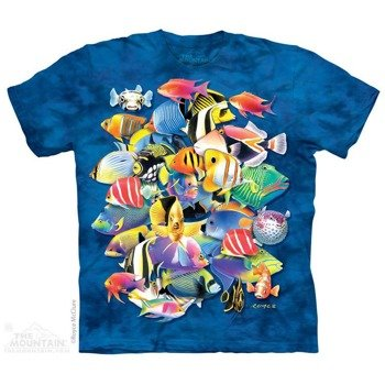 koszulka THE MOUNTAIN - TROPICAL JAM AQUATIC, barwiona