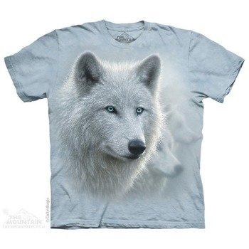 koszulka THE MOUNTAIN - WHITE QUT, barwiona
