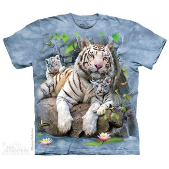koszulka THE MOUNTAIN - WHITE TIGER OF BENGAL, barwiona