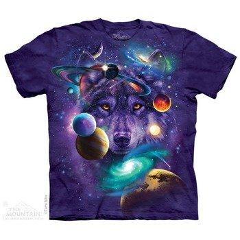 koszulka THE MOUNTAIN - WOLF OF THE COSMOS, barwiona