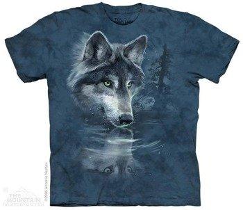 koszulka THE MOUNTAIN - WOLF REFLECTION, barwiona