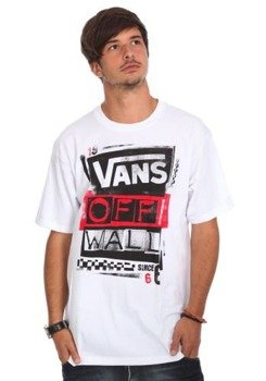 koszulka VANS - STENCILED (WHITE)