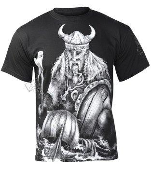 koszulka VIKING - WARRIOR & DRAKKARS czarna
