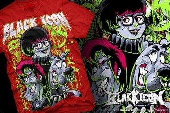 koszulka dziecięca BLACK ICON - SCOOBY czerwona