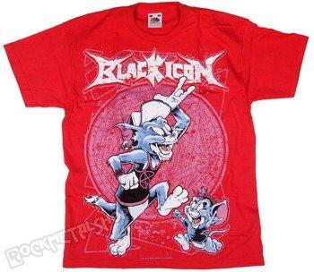 koszulka dziecięca BLACK ICON - TOM AND JERRY czerwona