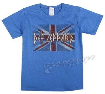 koszulka dziecięca DEF LEPPARD - BLUE UNION FLAG