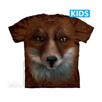 koszulka dziecięca THE MOUNTAIN - BIG FACE FOX, barwiona