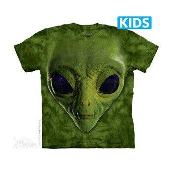koszulka dziecięca THE MOUNTAIN - GREEN ALIEN FACES, barwiona