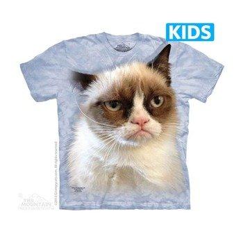 koszulka dziecięca THE MOUNTAIN - GRUMPY IN BLUE CAT, barwiona