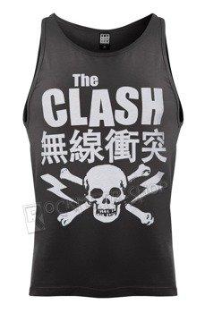 koszulka na ramiączkach THE CLASH - BOLT, szara