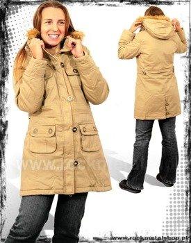 """kurtka jesienno-zimowa """"HBH"""" kolor kremowa"""