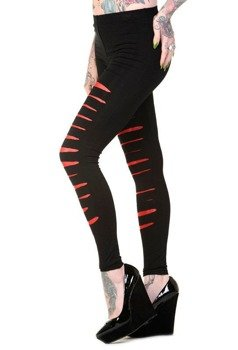 legginsy BANNED - BLACK/RED