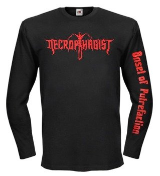 longsleeve NECROPHAGIST - RED LOGO