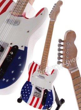 miniaturka gitary BRUCE SPRINGSTEEN - TELEC. US FLAG