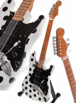 miniaturka gitary BUDDY GUY - STRAT POLKA DOT
