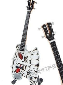 miniaturka gitary KISS - GENE SIMMONS: AXE SKULL BASS