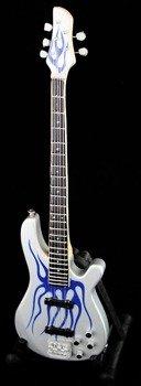 miniaturka gitary METALLICA - ROBERTO TRUJILLO: IBANEZ BASS BLUE FLAMES