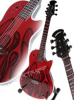 miniaturka gitary MÖTLEY CRÜE - NIKKI SIXX: RED OVATION TRIBUTE