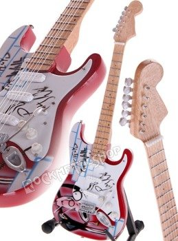 "miniaturka gitary PINK FLOYD - DAVID GILMOUR: STRAT ""THE WALL"" STYLE"