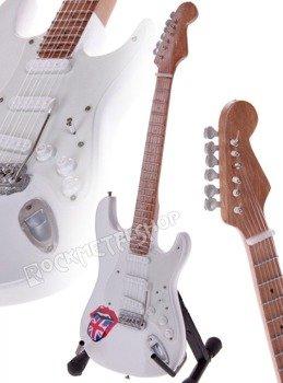 miniaturka gitary ROLLING STONES - WHITE STRAT LIPS