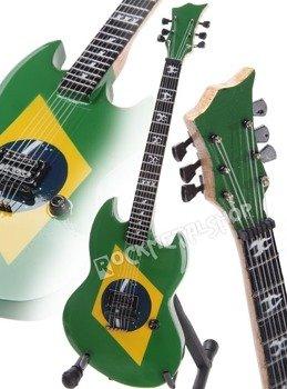 "miniaturka gitary SOULFLY - MAX CAVALERA: ESP ""BRAZILIAN FLAG"" STYLE"