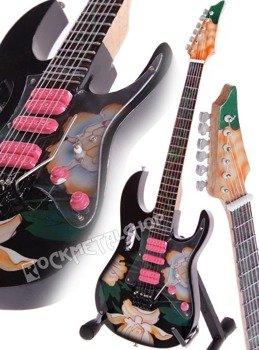 miniaturka gitary STEVE VAI: IBANEZ JEM77FP / FLOWER PATTERN
