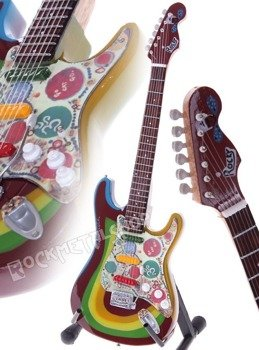 "miniaturka gitary THE BEATLES - GEORGE HARRISON: STRAT ROCKY ""BEBOPALULA"""