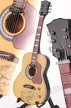 "miniaturka gitary THE BEATLES - JOHN LENNON: GIBSON J69E PEACE ""BED-IN"" STYLE (MP54)"