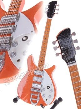 miniaturka gitary THE BEATLES - JOHN LENNON: RICKENBACKER 325 NATURAL '58