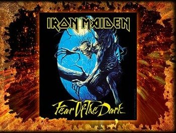 naklejka IRON MAIDEN - FEAR OF THE DARK