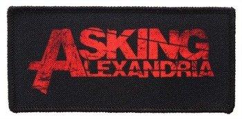 naszywka ASKING ALEXANDRIA - LOGO RED