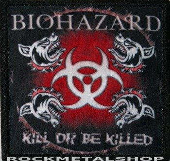 naszywka BIOHAZARD - KILL OR BE KILLED