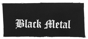 naszywka BLACK METAL