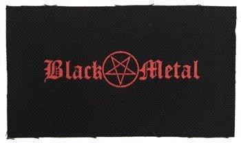 naszywka BLACK METAL/PENTAGRAM RED