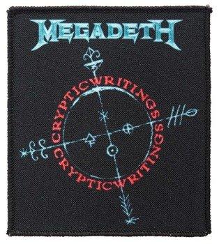 naszywka MEGADETH - CRYPTIC WRITINGS