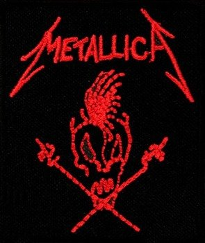 naszywka METALLICA - SKULL RED