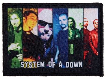 naszywka SYSTEM OF A DOWN - BAND COLOR